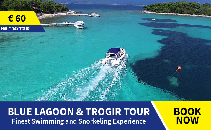 Blue lagoon and Trogir tour from Split