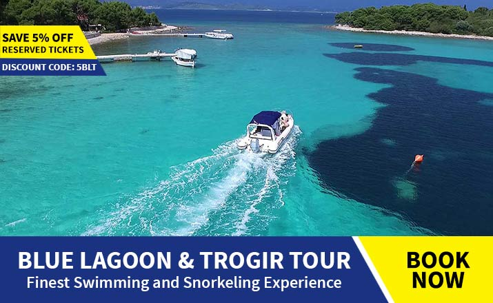 Blue lagoon & Trogir tour from Split