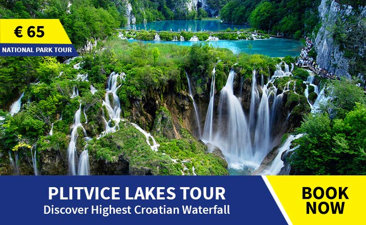 Guided tour of Plitvice lakes from Split