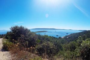 view on Krknjasi island from Drvenik hiking trail