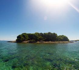 Krknjas island protecting Blue Lagoon