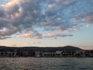 Split promenade at dusk