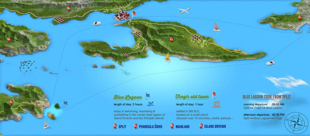 Blue Lagoon tour map