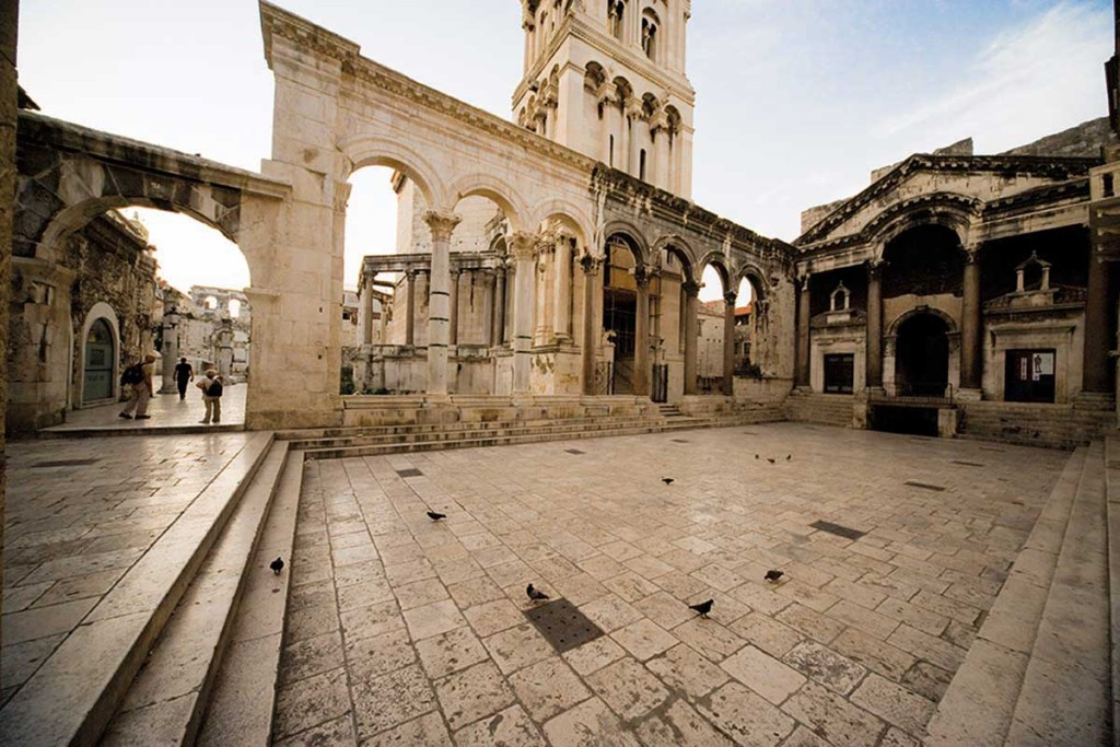 Peristil (Emperor Square) in Split