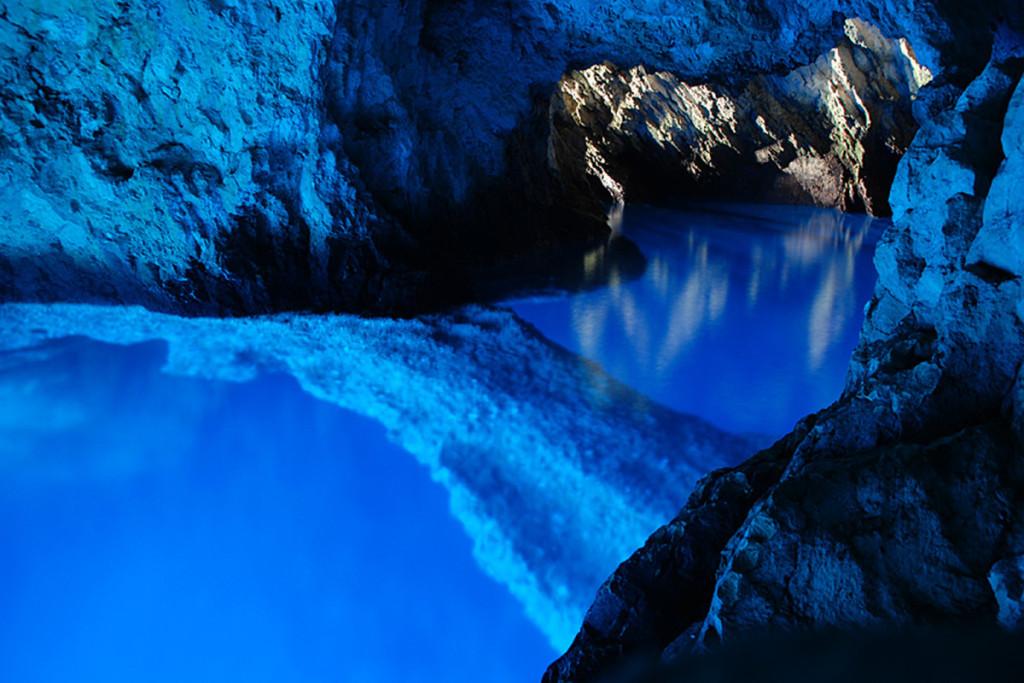 Blue Cave on island Bisevo