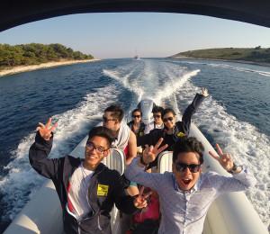 Leaving Pakleni islands and Speeding to Hvar