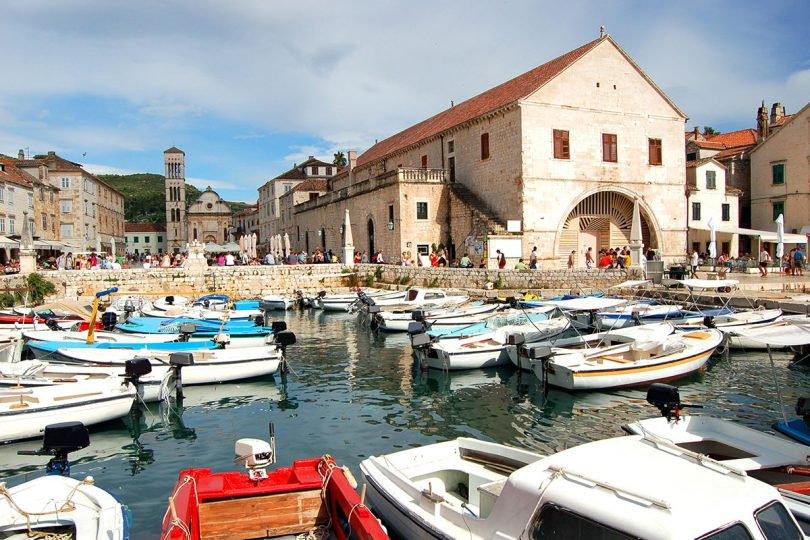 St Stephens Cathedral and Arsenal building, Hvar