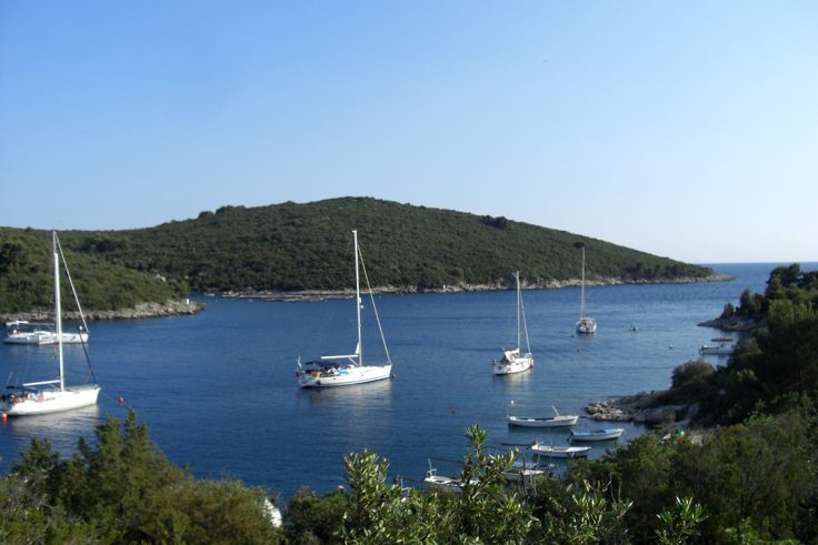 beautiful bay on island Solta