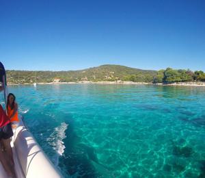 Enjoying the scenery of the Blue lagoon