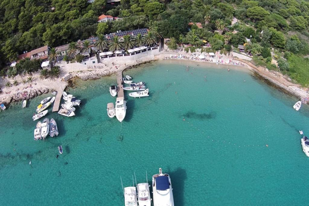 Aerial view of Palmizana beach