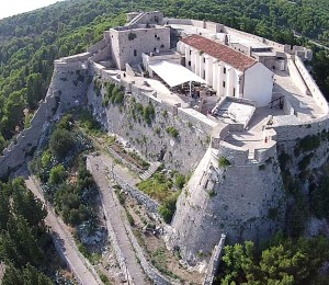 Aerial view of Fortica fortress