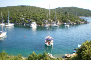 boat moored in Solta
