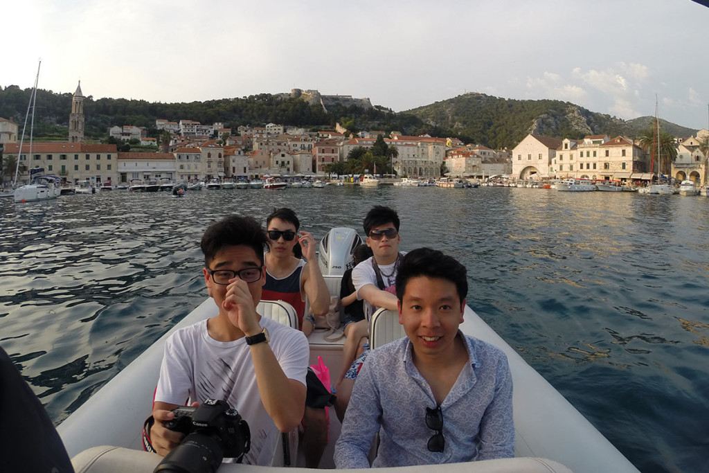 Leaving Hvar town