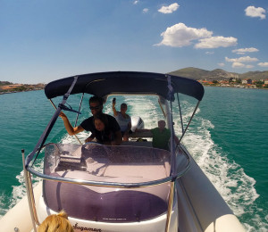 Our Young Skipper Speeding from Trogir
