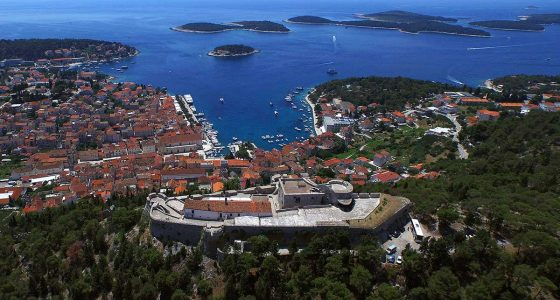 Back side of Fortica - Hvar Town and Pakleni Islands