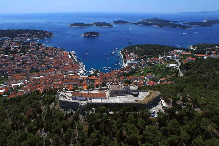 Fortica fortress, Hvar and Pakleni islands