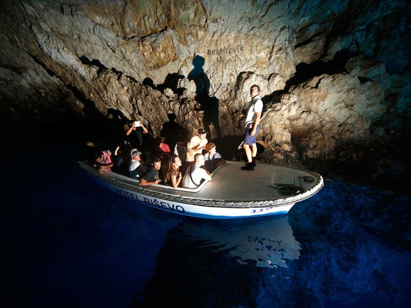 Official Boat taking you inside Blue Cave Bisevo