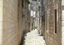Charming Narow Street, Old Town Trogir