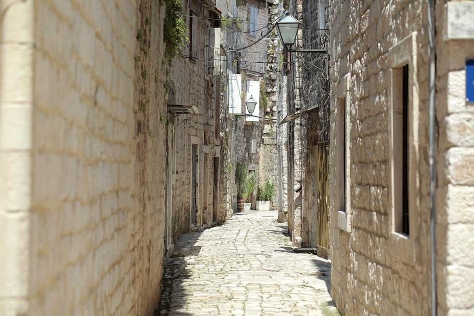 Charming Narow Street, Old Town Trogir