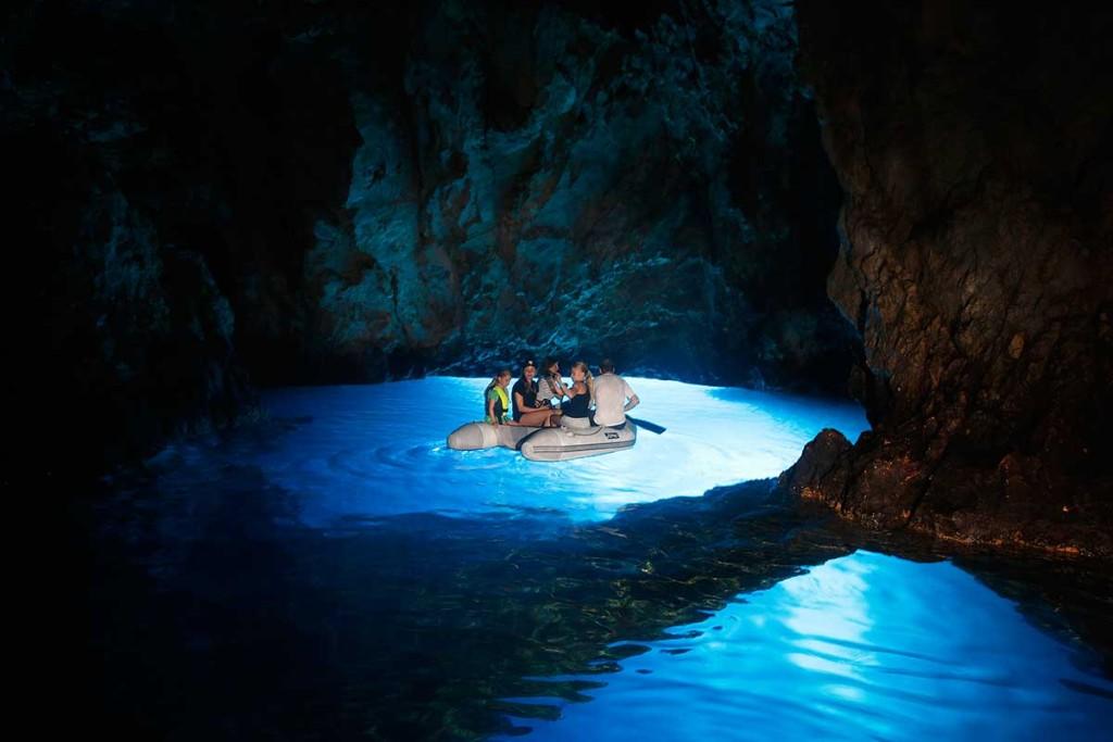 Visit Blue Cave on island Bisevo on Sugaman's Blue Cave ...