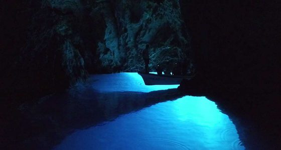 Ambiance of the Blue Cave on Bisevo