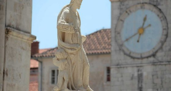 Statue of St. Lawrence - Town Square in Trogir