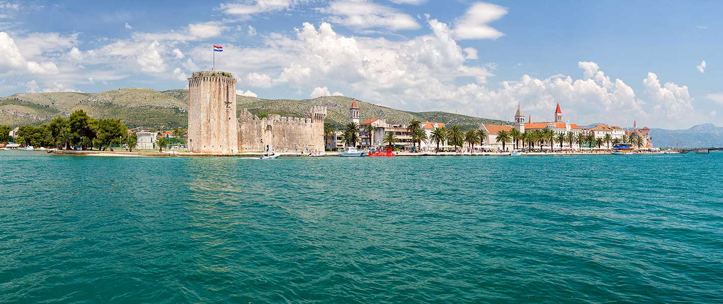 View on Trogir from Trogin Channel