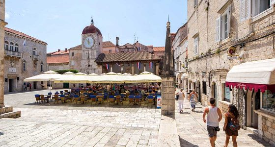 St Lawrence Square in Trogir