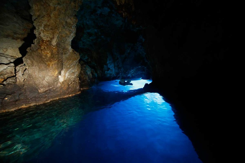 View Inside the Blue Cave on Bisevo