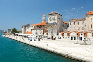 Trogir promenade from bridge