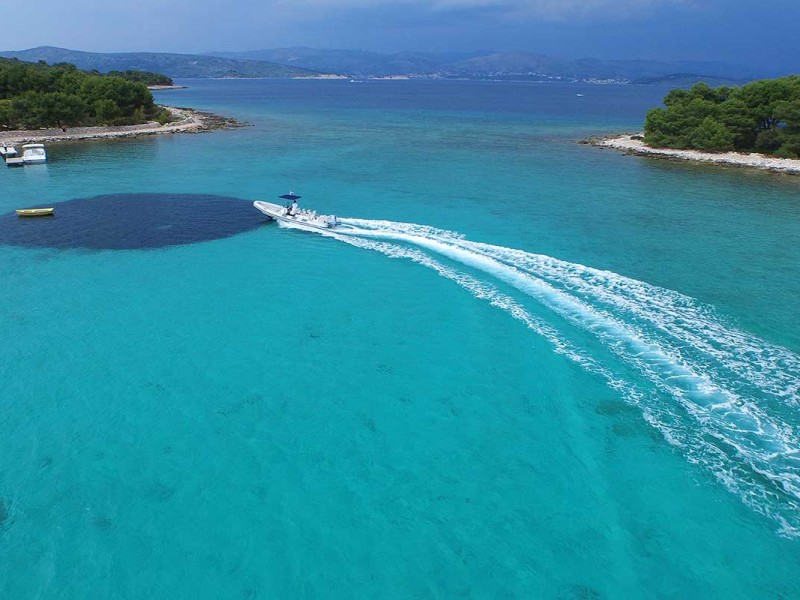 View on Clear Sea of Blue Lagoon