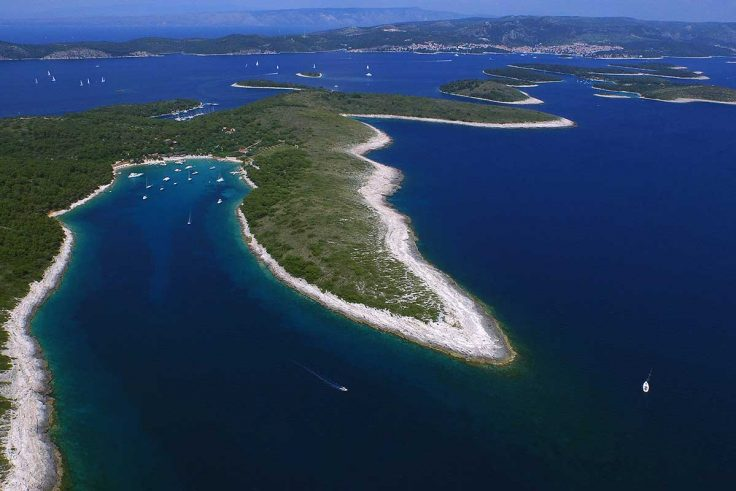 Pakleni islands archipelago