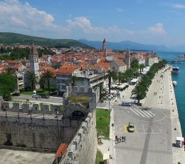 View on Trogir from Kamerlengo fortress