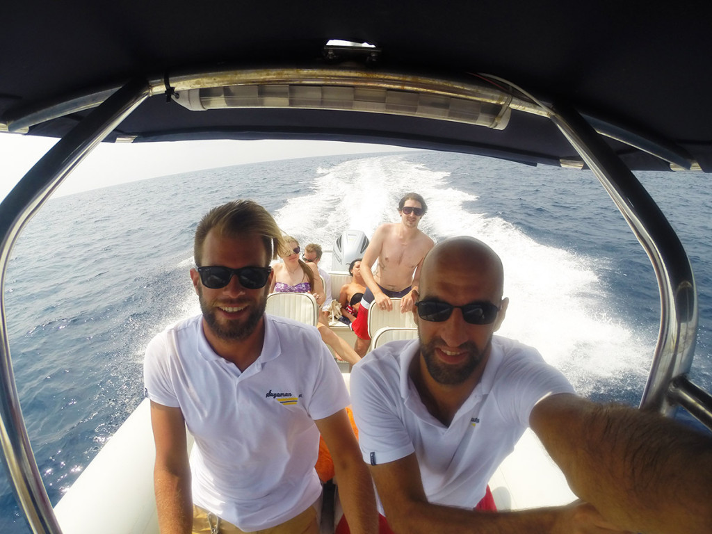 Gordan and Miro speeding through south side of Vis island