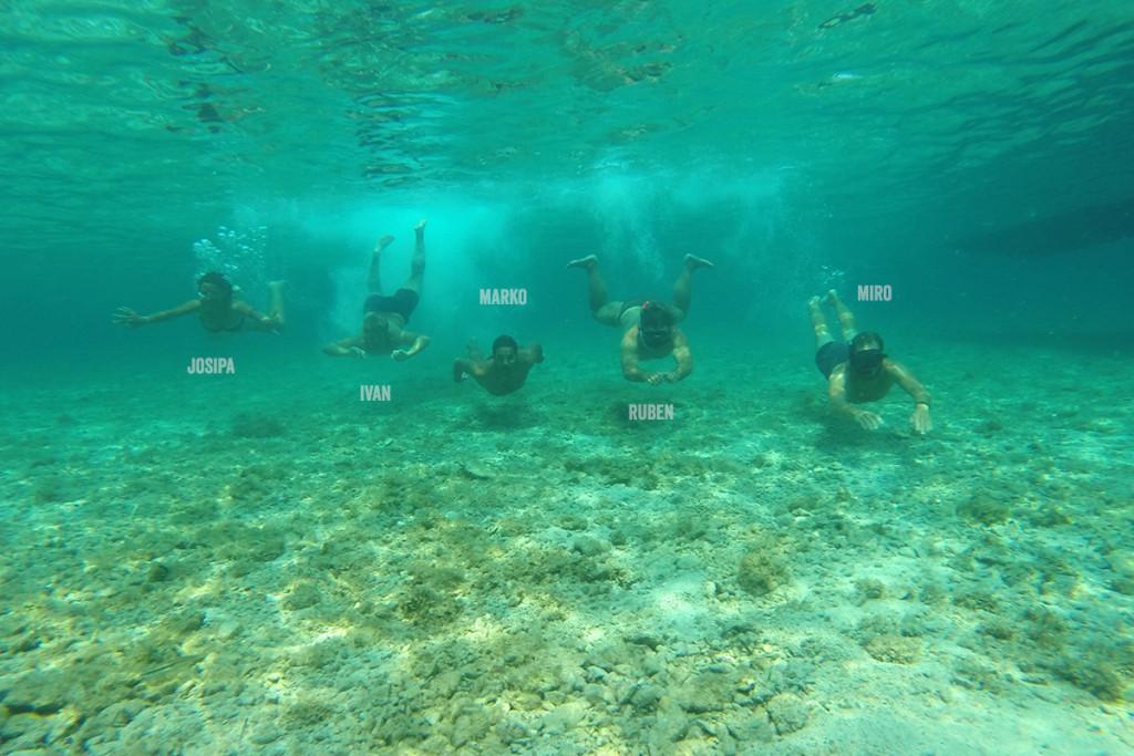 Sugaman Crew in Budikovac island