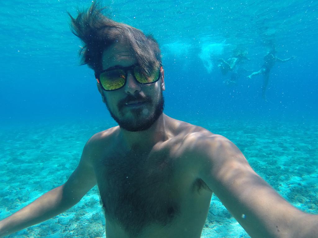 Marko, underwater selfie