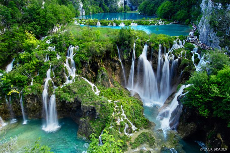 lower lakes of Plitvice national park