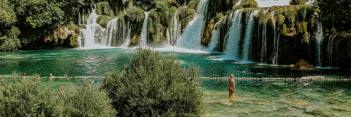 Krka-swimming-area