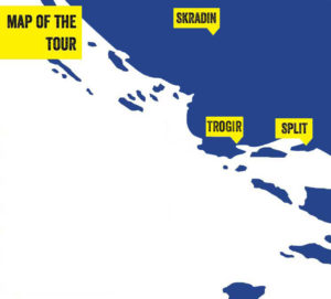 Krka tour from Split, tour map
