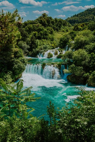 Skradisnki buk cascading waterfall