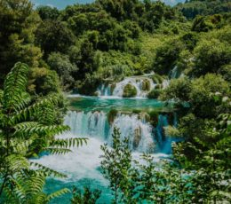 panoramic site of Krka waterfalls