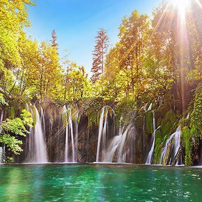 plitvice-waterfalls-sun-and-nature