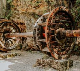 remains of the second hydroelectric plant in the wold-Krka national park