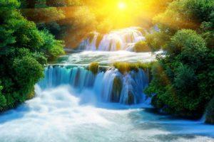 sunny cascade on Krka river
