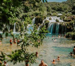 swimming area of Skradinski Buk