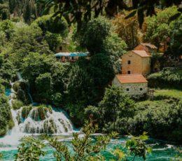 village by the Krka waterfalls