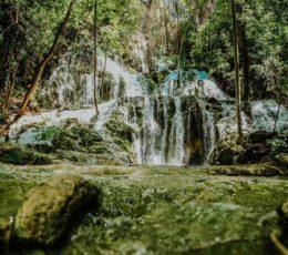 waterfall inside park forrest