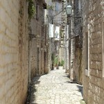 charming stone street in Trogir old town