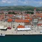 Trogir promenade from air