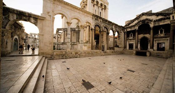 Peristyle and Cathedral in Diocletian Palace-Split